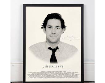 Jim Halpert, The office, INSTANT DOWNLOAD, Michael Scott, Rainn Wilson, Printable wall art decor poster, pop art, funny art, office quote