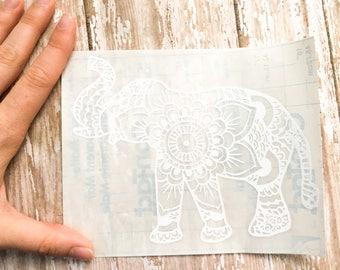 Elephant Decal - Elephant Mandela Decal - Window decor - Window Decal - Car Decal - Car Stickers - Car Decals for women