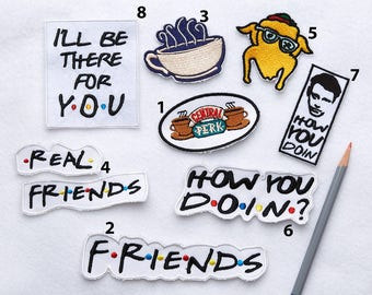 Friends tv show Embroidered patch Patches Jacket patch Patch collection Friends patches 90s patches Iron on  Movie patch Vintage patch 013