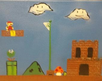 Super Mario Spray Painted Painting