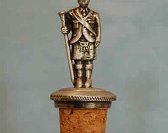 Scottish Drum Sergeant Pewter Bottle Stopper