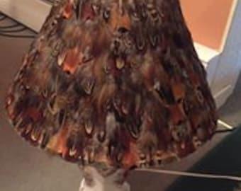 Pheasant Feather Lamp