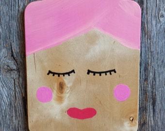 Pink Fancy Cutting Board