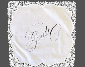 Mother of the Bride Lace Handkerchief