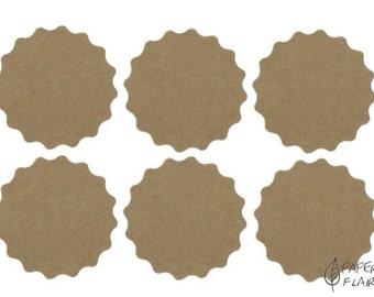 20 stickers kraft paper (AP-12)