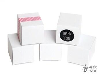 10 boxes gift boxes white (E-1)