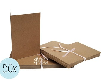 50 cards + envelopes kraft paper (DP-5)