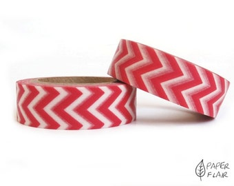 Washi tape Chevron red/white (PY-305)