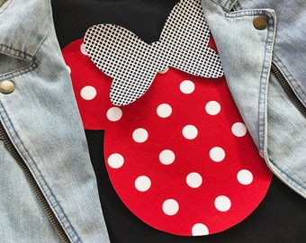 Minnie Mouse Polka Dot Applique Tee