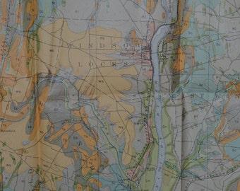 1903 Large Antique Massachusets/Conneticut Map, Antique Conneticut Map, Antique Massachusets Map, Springfield MA Antique Map, Vintage Map