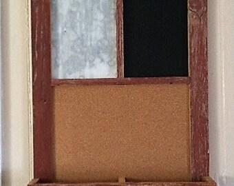 Barn board, bulletin board.