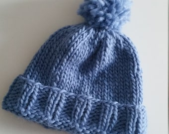 Hand made wool hat 'Blue Lagoon'