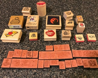 Assorted Rubber Stamps over 40