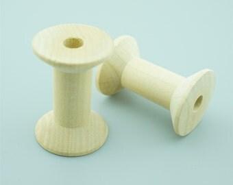 20pcs 47x31mm  Natural Wood Spool,Wooden Spool,Bare Wood MZ001