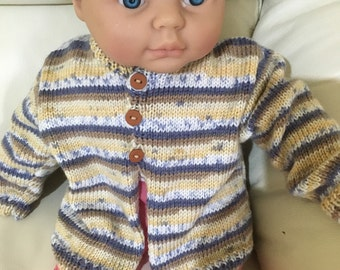 Hand knitted 3-6 month old cardigan