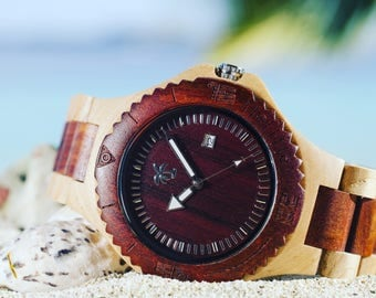 MAUI SERIES - Wood Watch, Wooden Watch, Present, Gift, Wooden Watches, Wood Watches, Mens Watch, Dad Gift, Watch, Watches