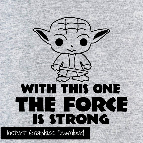 Yoda Onesie Star Wars SVG Downloadable Graphics Includes Front