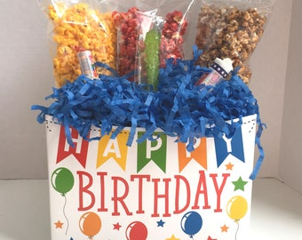 Popcorn Gift Box Happy Birthday Gift Box Popcorn and Candy