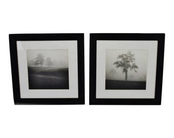 Pair of Black and White Framed Prints