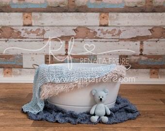 Blue Wood collection digital Newborn Backdrop/Background Prop