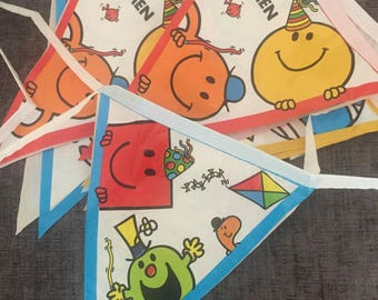 Mr Men bunting, party bunting