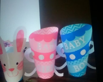 Baby shower candy cups