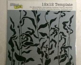 THE CRAFTER'S WORKSHOP Kelp Forest 12x12 Stencil