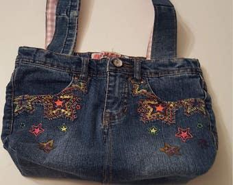 Upcycled Star Spangled Hand Bag