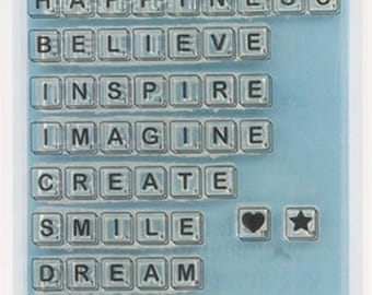 Mama Makes Stamps - Tiled Thoughts - 14 Stamps