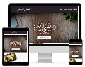 Website Design, Web Design, Custom Website, Restaurant Website, Food Website