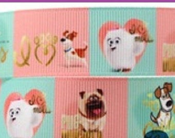 1 x Metre, DOGS AND CATS, 7/8, 22mm, Grosgrain, Ribbon, Sewing, Craft