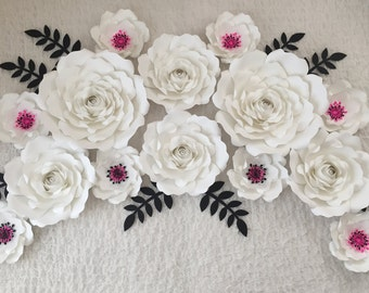 Set of 14 Paper Flowers