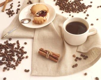 Gray Linen Placemat, Set of  Table Placemats, Natural Textil Placemat, Cloth Placemat, Rustic Coffee Table, Placemat Set, Table Linen