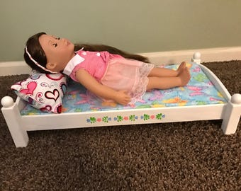 Doll bed for American Girl Doll or 18 inch Doll