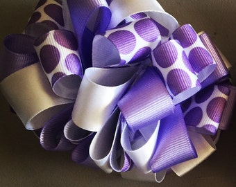 Handmade Loop hair bow  for a special girl in your life!
