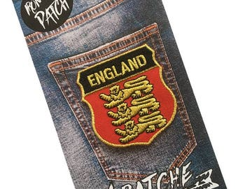 England Embroidered Iron On Patch