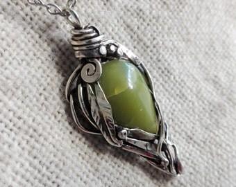 Serpentine fairy pendant