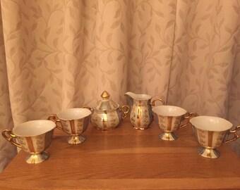 Gold Japanese tea set