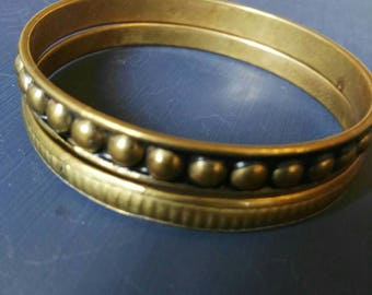 Brass bracelet, vintage bracelet, vintage, gold color, handmade, fit for 18-19-20 cm. Only available 2 !
