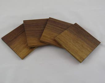 Set of 4 Walnut Coasters