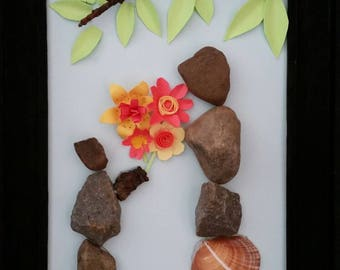 Mother's Day pebble art for mom/grandma