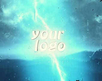 Video Intro or Outro, Logo on the background of a storm