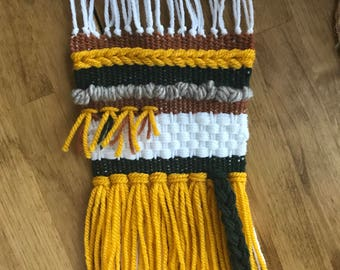 Hand woven wall hanging small