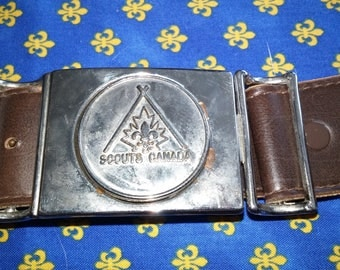 Vintage Scouts Canada Belt and Belt Buckle