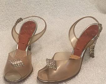 Rare vintage flapper heels 1920 / 1930