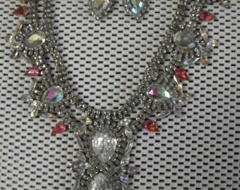 Czech Rhinestone Necklace 1930's