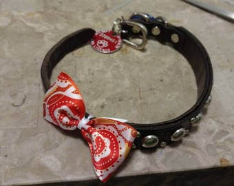 Bow tie for dog collars