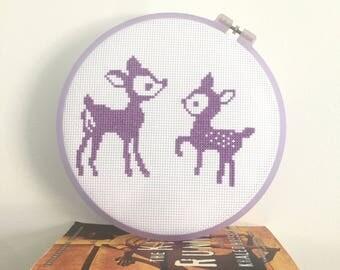 Deer Cross Stitch pattern, modern cross stitch pattern