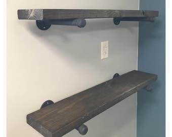 Rustic Industrial Wood Shelves