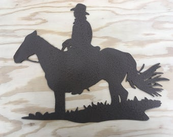 Cowboy Metal Wall Art